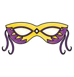 Mask mardi gras carnival icon image vector