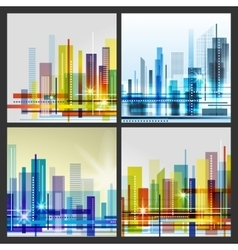 Modern city life abstract background design vector