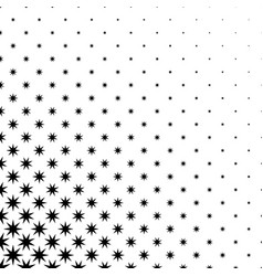Monochrome star pattern - abstract background vector