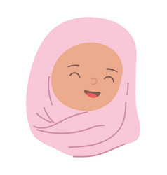 muslim woman in traditional hijab isolated icon vector image