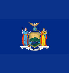 new york state flag vector image