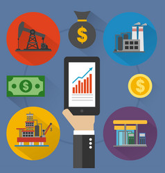 oil business modern design flat vector image