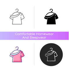 one shoulder t shirt icon vector image