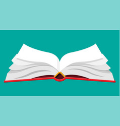 open book with an upside down pages vector image