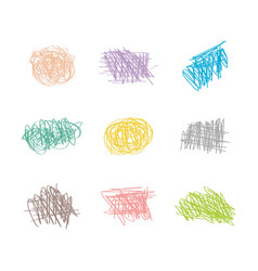 patel colors random hand drawn doodle drawing vector image