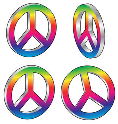 Peace signs vector