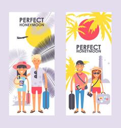 Perfect honeymoon trip advertisement vector