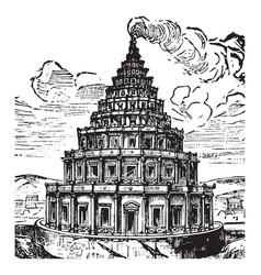 pharos island lighthouse or alexandria egypt vector image