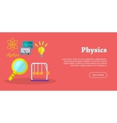 Physics Science Banners Physical Equipment vector