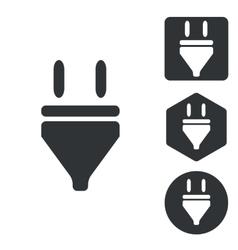 Plug icon set monochrome vector