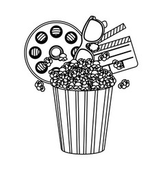 Pop corn film and clipart icon vector