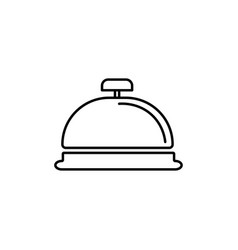 Reception bell icon vector