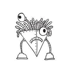 Retro Cartoon Robot vector image