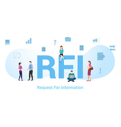 Rfi request for information concept with big word vector
