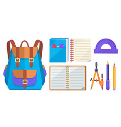 rucksack fashionable model and school accessory vector image