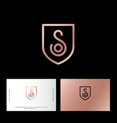 s and o letter monogram web business card vector image