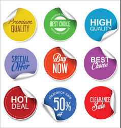 sale stickers and tags collection 1 vector image