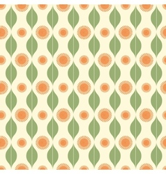 Seamless pattern with stripy ornament vector image