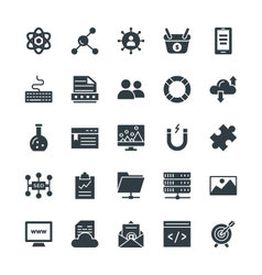 SEO and Internet Marketing Cool Icons 3 vector image