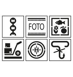 Signs on packaging Logistic icon for box vector image vector image