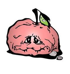 sluggish apple vector image