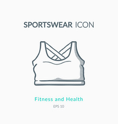 Sport top icon on white background vector