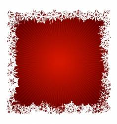 square red snowflake background vector image