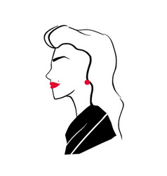 stylized drawing of elegant fashionable pretty vector image