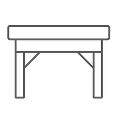 table thin line icon furniture and home desk vector image
