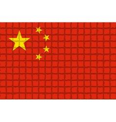 The mosaic flag of China vector
