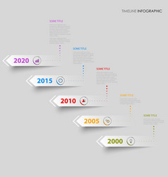 Time line info graphic with design directional vector