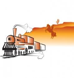 train cowboy vector image