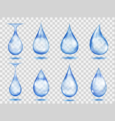 transparent blue drops vector image