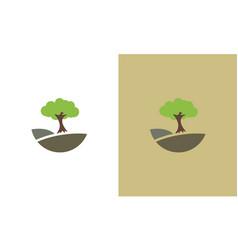 tree oragnic logo vector image