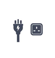 uk plug and socket icon vector image
