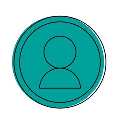 user pictogram in frame icon imag vector image