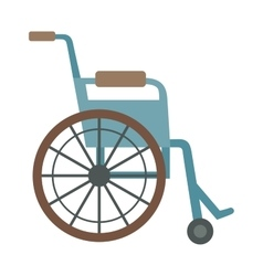 wheelchair flat design medical icon vector image
