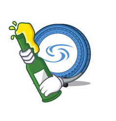 With beer syscoin mascot cartoon style vector