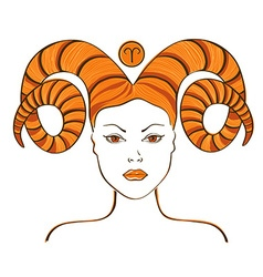 Zodiac sign of Aries vector