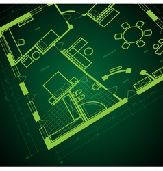 Abstract blueprint background vector image vector image