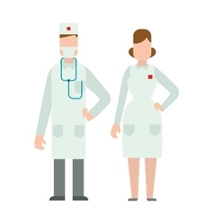 Doctor people man and woman vector image