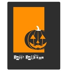 Poster banner card or background for Halloween vector image