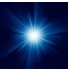 Blue color design with a burst EPS 8 vector image vector image