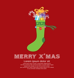 Christmas Sock New Year Concept vector image vector image