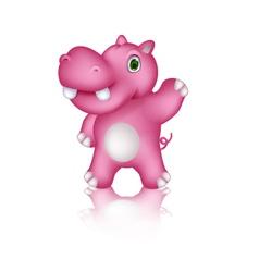 cute hippo cartoon posing vector image