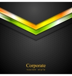 Glow neon tech arrows abstract background vector
