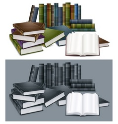 library books vector image vector image
