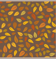 autumn floral seamless different leaves pattern vector image vector image