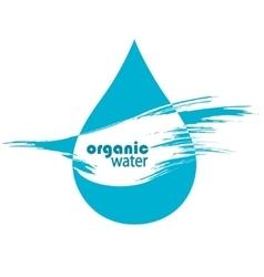 Drop of clean water vector