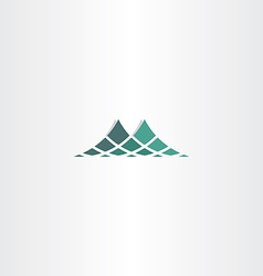 green halftone mountain icon logo vector image